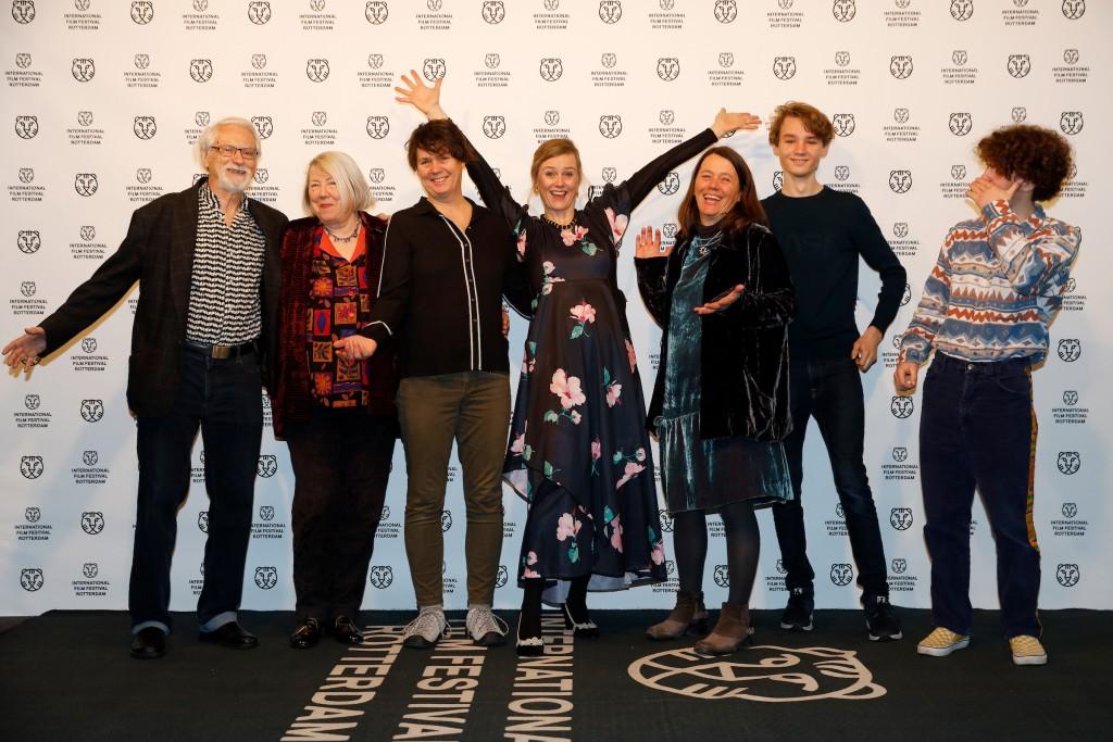 ROTTERDAM - IFFR 2020 - Photocall Sonja Wyss, director of the film Farewell Paradise and cast in de Pathe. Photo Bas Czerwinski